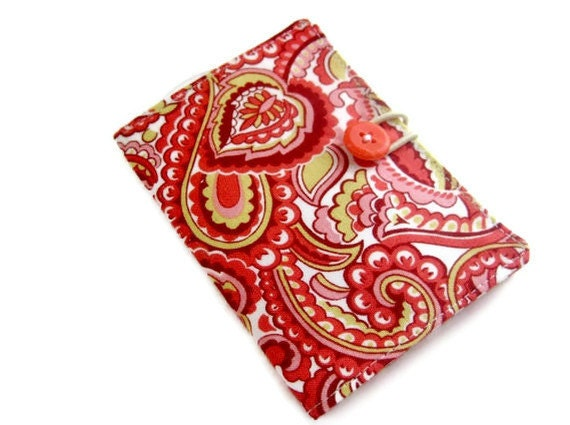 Tea bag wallet, pink orange