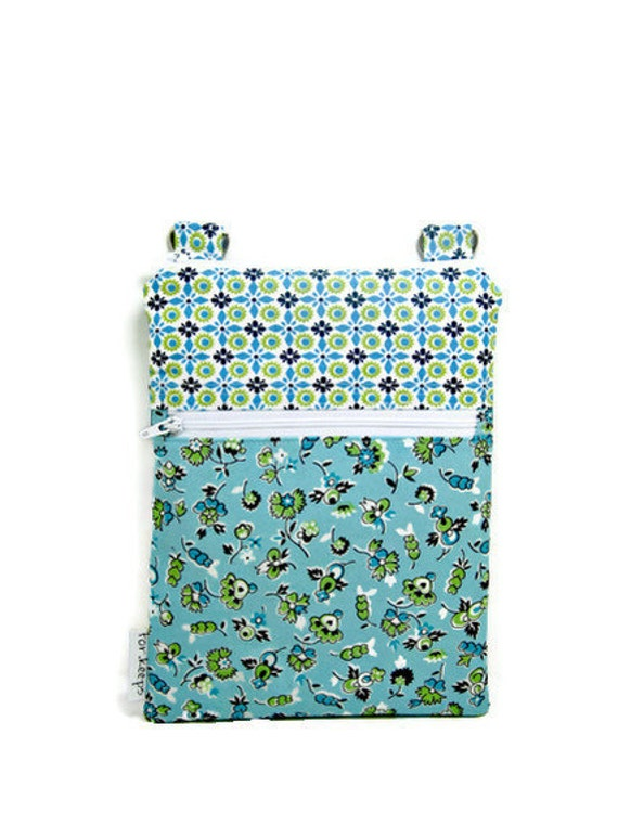 Small blue sling purse cross body bag summer floral travel purse READY TO SHIP