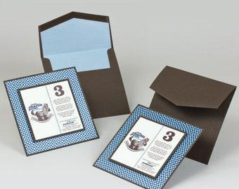 Birthday Invitations - MYSTIC BLUE