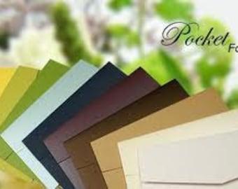 Pocket Folds Set of 100 (Signature) - Metallic w/Envelopes