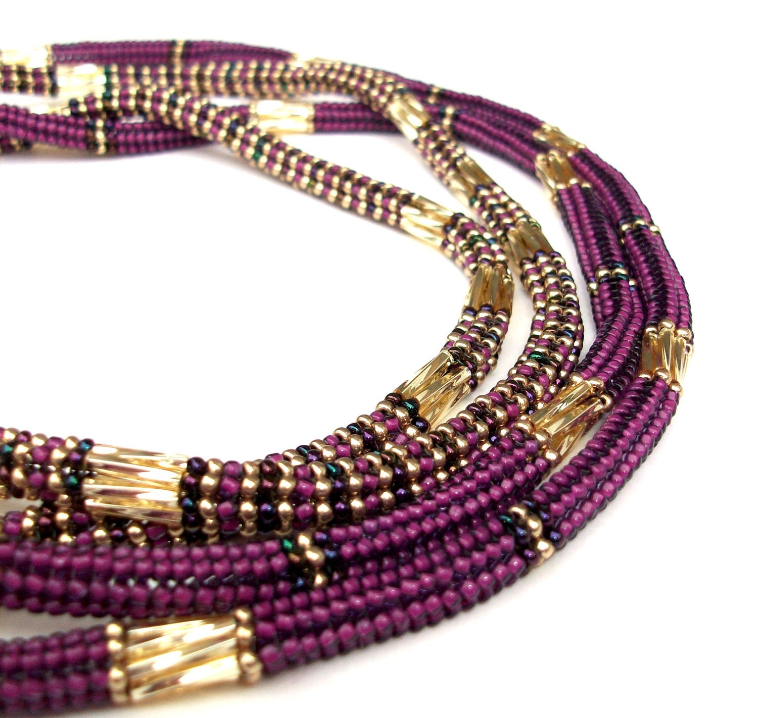 Necklace Beads: Beaded Necklace Embellished Beaded Rope Statement Long