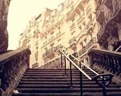 Les Escaliers de Montmartre - 8x8 Print - Photography of Paris, Paris Wall Art, Home Decor, Architecture, French Decor, Parisian