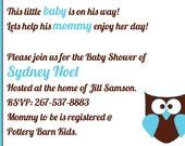 Boy or Girl Baby Shower Invite