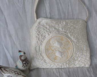 Tulip Trapunto Evening Handbag