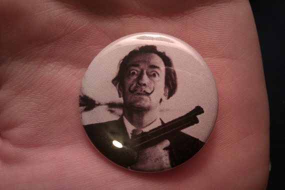 "Salvador Dali Pinback Button 1.5"""