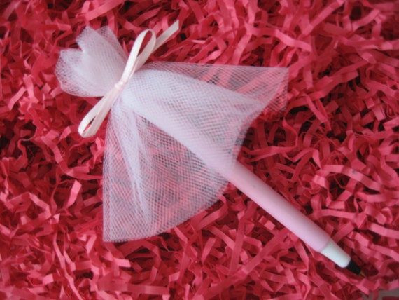 kitchen tea gift ideas for guests items similar to tulle wedding dress pen wedding 27176