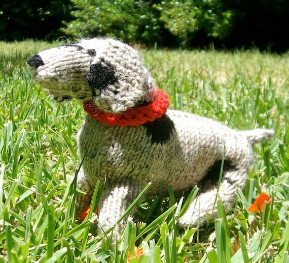 Phoebe the knit stuffed mutt puppy :-)
