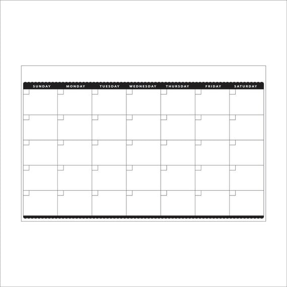 Dry Erase Weekly Calendar : Dry erase magnet monthly calendar by decoboards on etsy