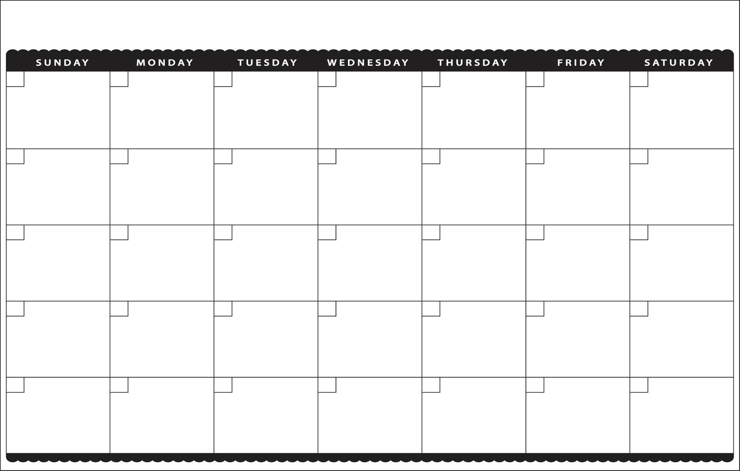 11x17 Peel and Stick Dry Erase Cute Blank Monthly by decoboards
