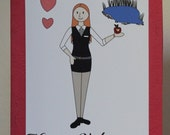 Amy Pond Doctor Who Valentine's Card