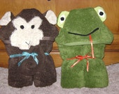 Animal Hooded Towels - made to order