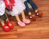 Waldorf Doll Shoes for Blythe Size Puppens - Made to Order