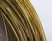 Yellow Brass wire, per 10 feet, 24 gauge,approx 0.5mm wide, YBW004