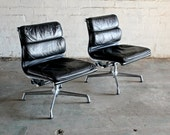 2 Vintage Mid Century Herman Miller Aluminum Group Soft Pad executive Chairs
