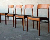 Set of 4 Mid Century Danish Teak KS Korup Stolefabrik Dining Chairs