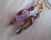 Psychodelic Rainbow Earrings - 22k Gold