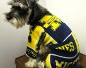Michigan Fleece Dog Pajamas Long Johns