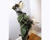 Plaid  Luck O The Irish Green and Brown Reversible Dog Coat Fleece