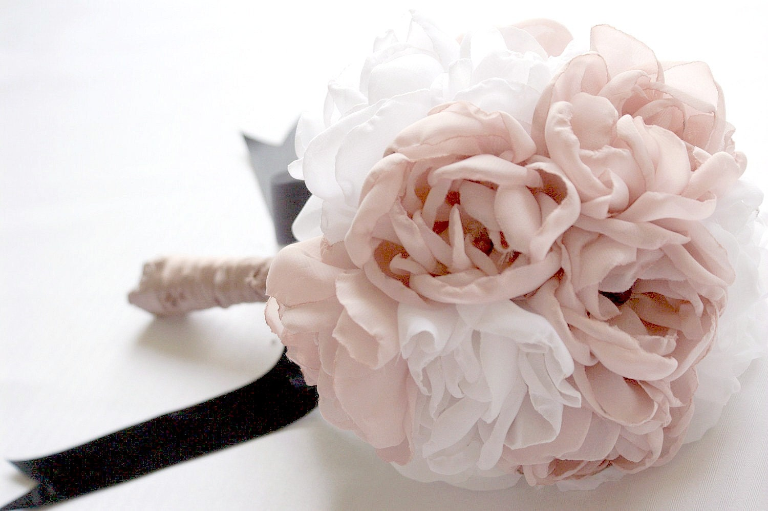 Peony Fabric Bridal Bouquet Vintage Inspired By Innstyches