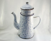 French Enamel Coffee Pot for Decoration