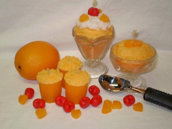 Orange Sherbet Ice Cream Candle