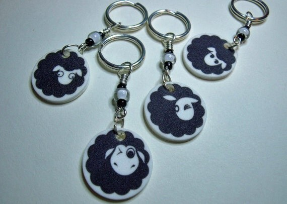 Flock of Sheepies Stitch Markers - SALE, 25% OFF