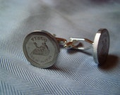 Virgo British National Transport Token Cuff Links