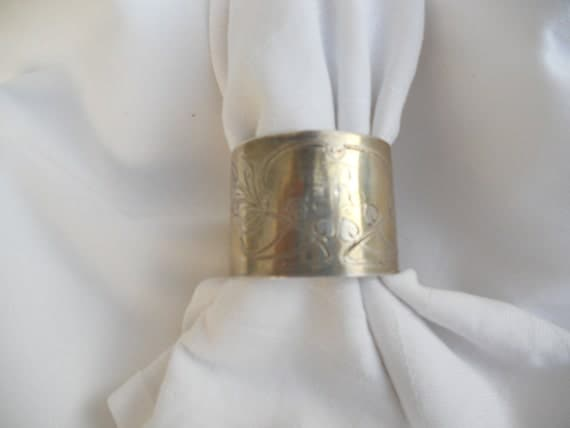 Napkin Ring - Original Art Nouveau - Monogrammed with SR - Sterling Silver