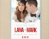 Modern & Bold Save the Date Card  DIY Printable or Printed Card