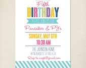 Girl Birthday Party Invitation Baby Shower Invite Printable