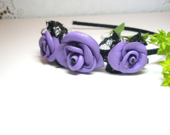 3rd anniversary gift -Wedding Hair Accessories, Bridal Hair Piece - Handmade floral Headband