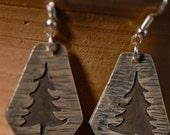Sterling Silver Pine Tree Earrings