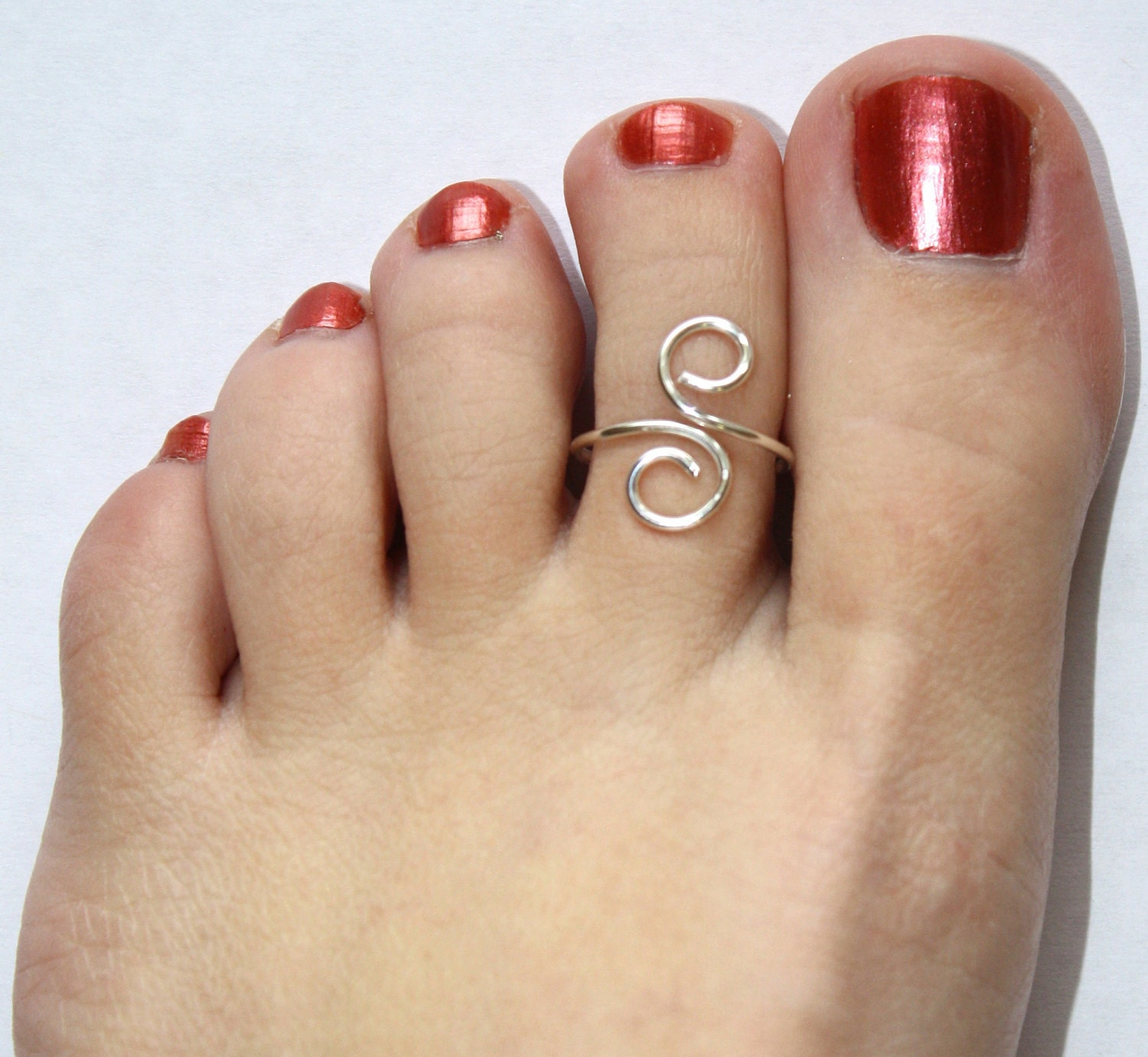 Silver Toe Rings Etsy