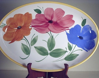 Large Oval Platter Handpainted from Italy