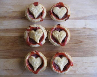 The Queen of Hearts Stealing Sized Strawberry Tarts- Six