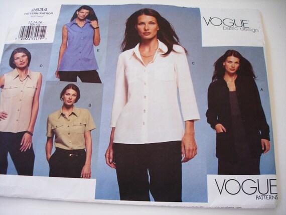 Blouse pattern -  sizes 12, 14, 16 Vogue
