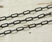 6ft Antiqued Brass Chain Flat Link 5.5mm x 2.5mm Oval Cable Chain, SOLDERED Elongated Small Drawn Hammered
