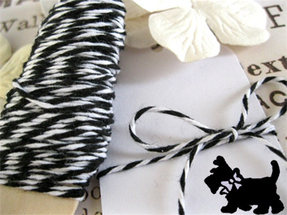 Bakers Twine Black and White 45 Feet PREMIUM Bakers Twine twisted roll Bakery string