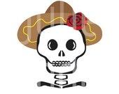 Day of the Dead Male Muchacho Skull 8x10 print Original Art