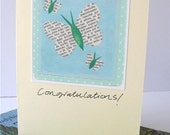 Set of 3 Pretty Butterfly Congratulations Cards: Graduation, Wedding, New Baby, Engagement, Announcement
