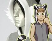 Lemur Hoodie, Costume, Cosplay, Adult Size, Hand-made