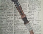 Dr. Who Sonic Screwdriver Dictionary Page Print 002