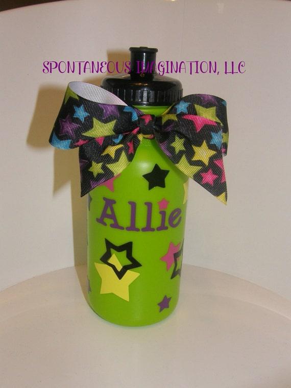 Personalized Girl Themed Sport 20 oz Plastic Water Bottle
