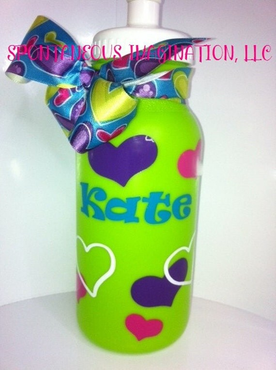 Personalized Girl Themed Sport 20 oz Plastic Water Bottle-Kids