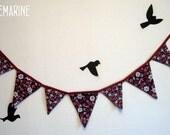 Fabric bunting banner - Daisy - Guirlande décorative