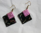 Dichroic Dragonfly Earrings - Item 1-1238