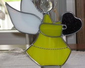 Stained Glass Angel with Heart - Item  9-1009