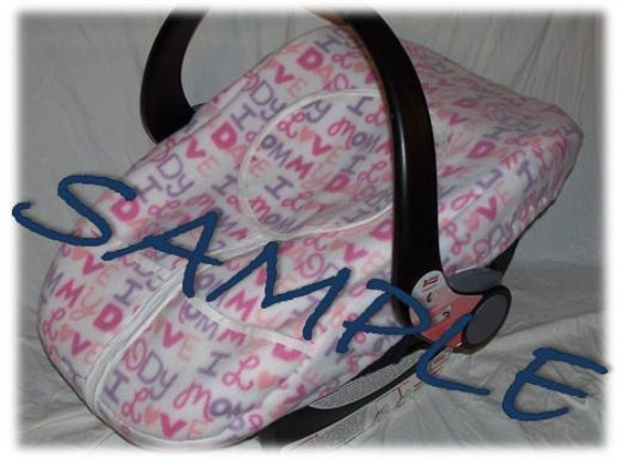 Items Similar To Custom Baby Car Seat Cover W Pockets And