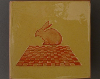 Your Turn - Dishlet 53 • Bunny Wall Hanging • Sitting Rabbit • Checker Board • Soap Dish • Bright Yellow • Little Dish • Ring Dish