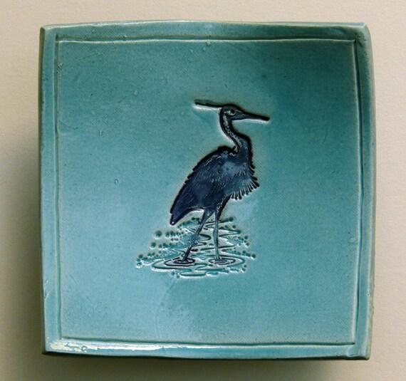 Blue Heron Wading - Dishlet 17